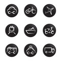 Title: Vehicles icon set