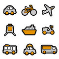 Vehicles icon set vector Royalty Free Stock Photo