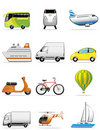Vehicles icons Stock Photos