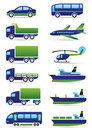 Vehicles icons set Stock Images