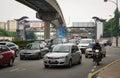 Vehicles on street in Kuala Lumpur, Malaysia