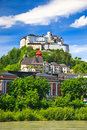 Veiw on Hohensalzburg Fortress Stock Photos
