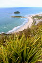 Veiw from the top of Mt Manganui  New Zealand Royalty Free Stock Photo