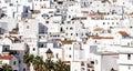 Vejer de la frontera rooftops costa luz spain Stock Photo
