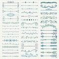 Vektor färgrika pen drawing dividers pilar Royaltyfri Bild