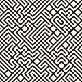 Vektor schwarzweiss maze geometric seamless pattern Stockfoto