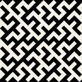 Vektor schwarzweiss maze ornament seamless pattern Lizenzfreie Stockbilder