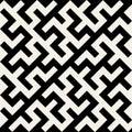 Vektor svartvita maze ornament seamless pattern Royaltyfria Bilder