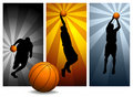 Vektorbasketball Players#2 Lizenzfreies Stockbild