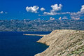 Velebit mountain from Island of Pag Royalty Free Stock Photo
