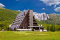 Velebit mountain lodge in springtime lika croatia Royalty Free Stock Photos