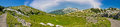 Velebit mountain wilderness panoramic view crnopac peak croatia Stock Image