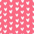 Velentine s day pattern with hand painted hearts grunge vector seamless texture for web print valentines wrapping paper wedding Stock Photos