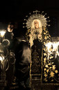 Velez rubio almeria spain april silence procession blessed virgin our lady solitude april velez rubio almeria spain Royalty Free Stock Image