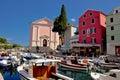 Veli Losinj harbor and colorful architecture Royalty Free Stock Photo