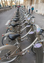 Velib bicycles Stock Photography