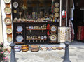 Veliko Tarnovo BG, August 15th: Souvenirs Store in the Medieval town Veliko Tarnovo from Bulgaria Royalty Free Stock Photo