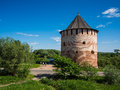 Veliky novgorod ancient tower of Royalty Free Stock Images