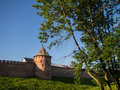 Veliky novgorod ancient wall of Royalty Free Stock Photography