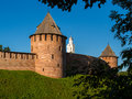 Veliky novgorod ancient wall of Stock Image