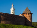 Veliky novgorod ancient wall of Stock Images