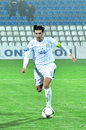 Velizar Dimitrov with the ball on the field Royalty Free Stock Images