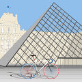 Velo de france with classic and modern architecture in Royalty Free Stock Photos