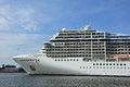 Velsen pays bas le juillet msc magnifica Photo stock