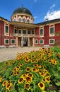 Veltrusy castle with flowers Royalty Free Stock Photo