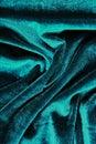Velvet dress material cloth texture pattern. Velvet fabric. Designer dress pattern. Blue. Royalty Free Stock Photo