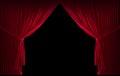 Velvet red courtain Royalty Free Stock Photo