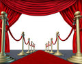 Velvet red curtain frame Stock Photography