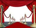 Velvet red curtain frame Royalty Free Stock Photo