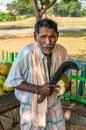 Vendedor coconuts Imagem de Stock