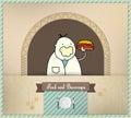 Vendeur servant le hot-dog frais Photographie stock libre de droits