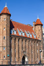 Vendor s gate in gdansk polish brama straganiarska from th century the old town of poland Stock Images