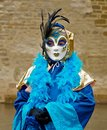 Venedisches carnival costume child with a in venice Stock Image