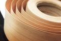 Veneer in a roll Royalty Free Stock Photo
