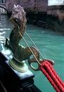 Venetiaanse gondel, detail Royalty-vrije Stock Foto's