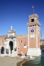 Venetian arsenal the porta magna at the venice italy Royalty Free Stock Photos