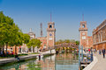 Venetian arsenal venice april in venice italy venice arsenale was the largest shipyard in the world now a naval base and Royalty Free Stock Photo