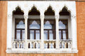 Venetian balcony ,window Royalty Free Stock Photo