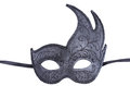 Venetian black mask isolated on white Royalty Free Stock Photography