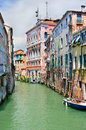Venetian canal landscape Royalty Free Stock Photo