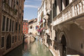 Venetian canal typical view of a in venice Royalty Free Stock Photography