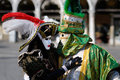Venetian carnival costumes Stock Photo