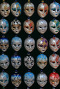 Venetian carnival masks group of Stock Photo