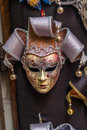 Venetian carnival masks hanging - 4 Royalty Free Stock Photo