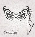 Venetian carnival or theater mask with ribbons illustration Stock Images