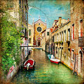 Venetian channels Royalty Free Stock Images